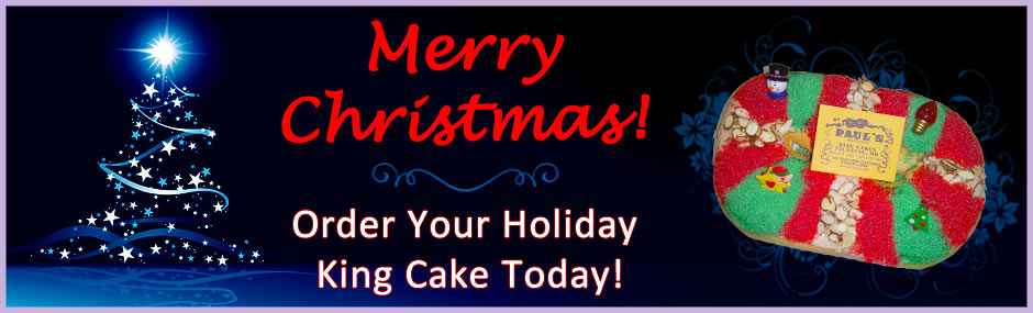 Image of a Christmas king cake