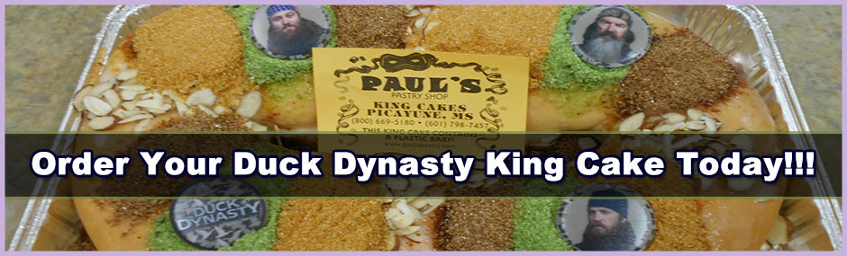 Image of a Duck Dynasty king cake