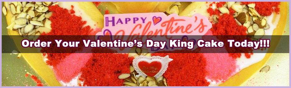 Valentine's Day King Cake